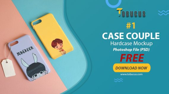 Free Mockup Hardcase 3D Case Couple #1